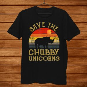 Save The Chubby Unicorns Vintage Colors Distressed Shirt