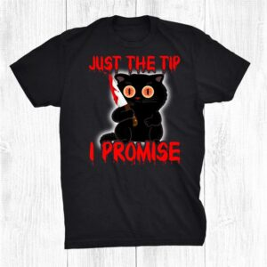 Scary Black Halloween Cat Just The Funny Halloween Cat Angry Shirt