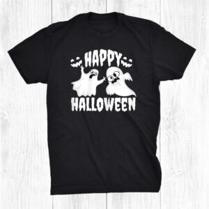 Scary Ghosts With Glasses Pumpkin Grin Happy Halloween Shirt