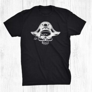 Scary Pirate Skull Matching Trick Or Treat Halloween Shirt