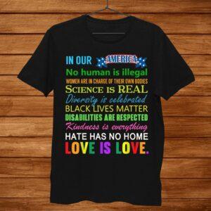 Science Is Real Black Lives Matter Shirt Gay Pride Kindness Shirt
