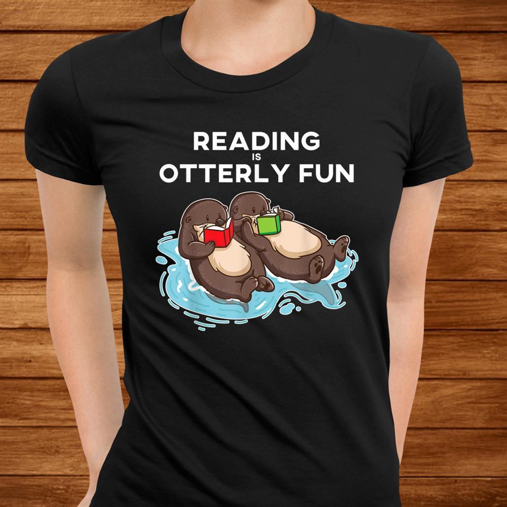 Sea Otter Book Reading Shirt For Bookworm Teachers Shirt