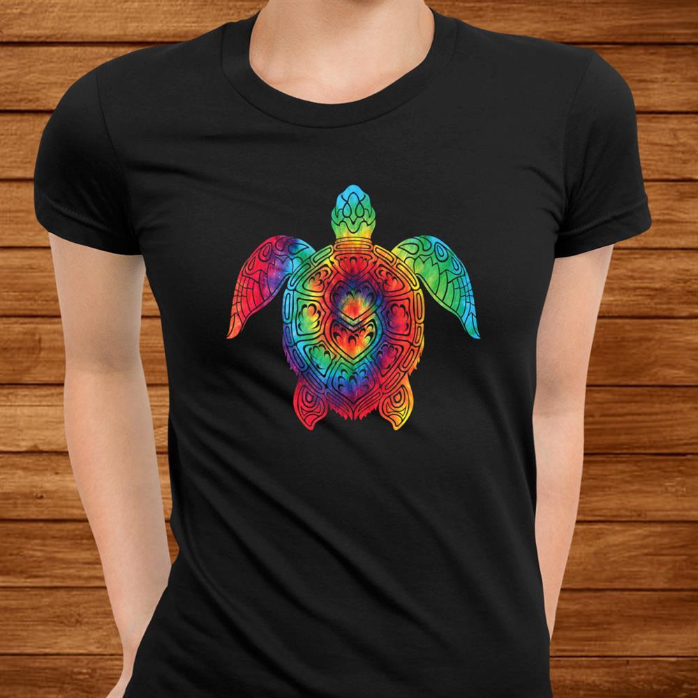 Sea Turtle Ocean Tie Dye Rainbow Hippie Costume Hippy Shirt