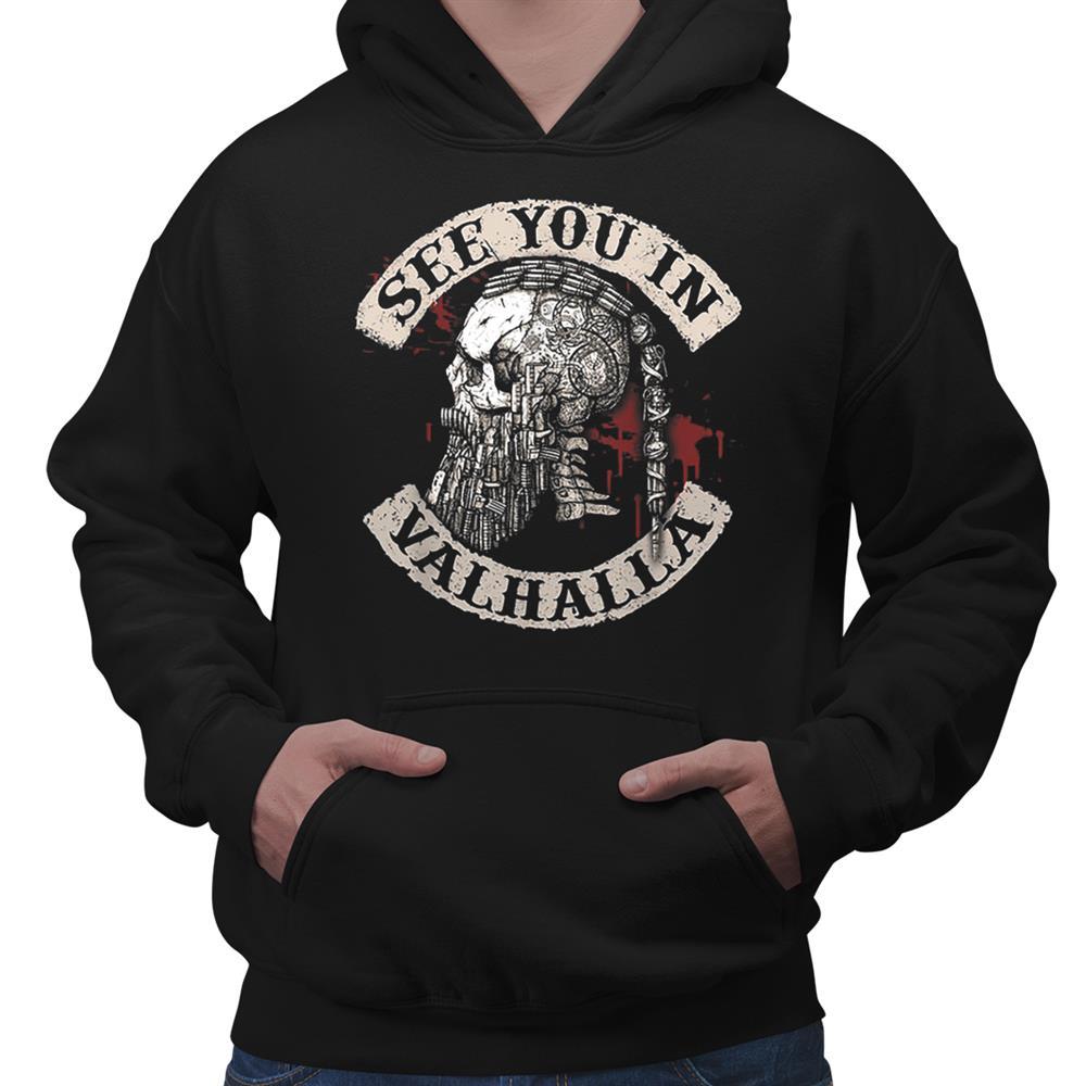 See You In Valhalla Skull Viking Shirt
