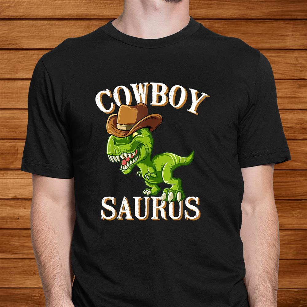 Sheriff T Rex Dinosaur Cowboy Horse Rider Wild West Saurus Shirt