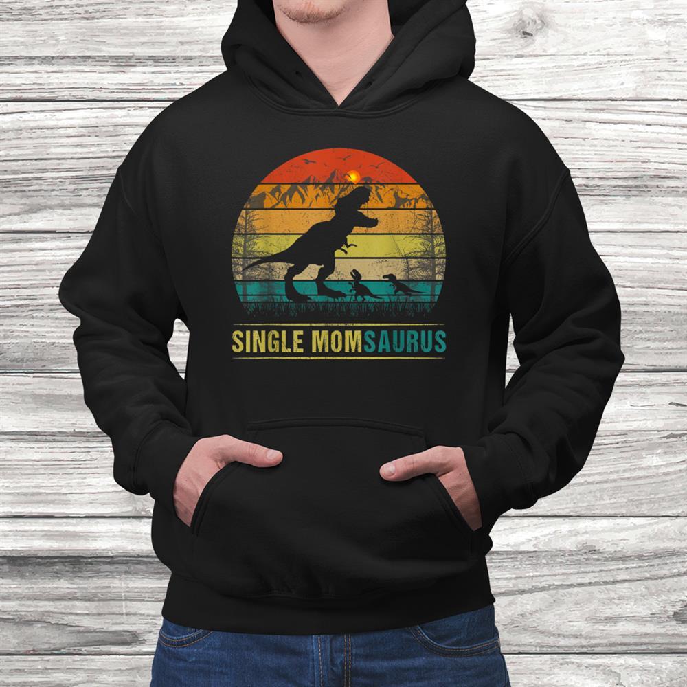Single Momsaurus T Rex Dinosaur Shirt For Mom From Daughter Shirt