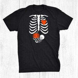 Skeleton Baby Pregnant Xray Rib Cage For Fall Halloween Shirt