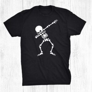 Skeleton Dabbing To The Bone Fun Dancing Halloween Party Shirt