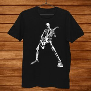 Skeleton Playing Guitar Electric Acoustic Classical Shirt