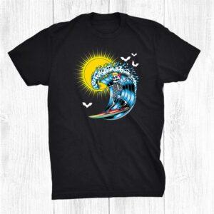 Skeleton Surfing Hawaii Hawaiian Surfer Halloween Sun Shirt