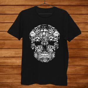 Skull Rottweiler Dog Gifts Funny Halloween Costume Shirt