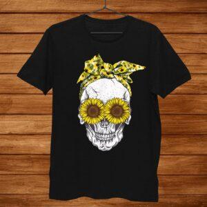 Skull Sunflower Skull Cute Shirt