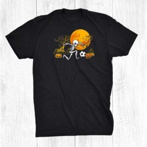 Soccer Skeleton Halloween Boys Soccer Player Halloween Shirt