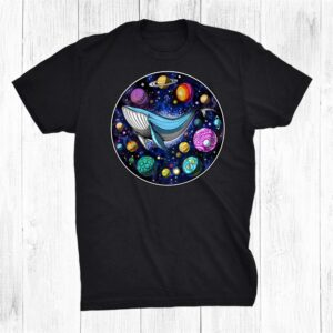 Space Whale Psychedelic Cosmic Planets Galaxy Fantasy Hippie Shirt