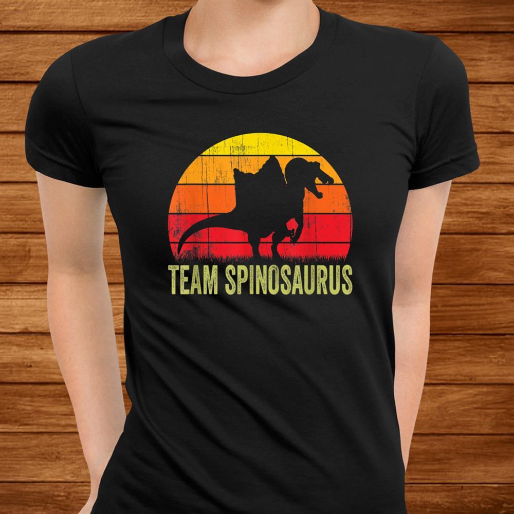 Spinosaurus Retro Vintage Dinosaur Paleontologist Shirt