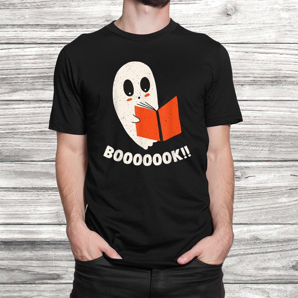 Spooky Reading Ghost Boo Book Reader Bookworm Halloween Shirt