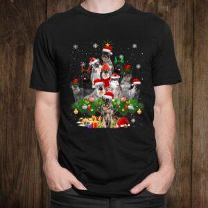 Standard Schnauzer Christmas Tree Lights Funny Dog Xmas Shirt