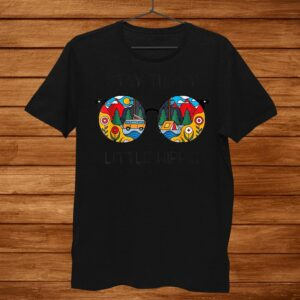 Stay Trippy Little Hippie Glasses Hippie Camping T Shirt