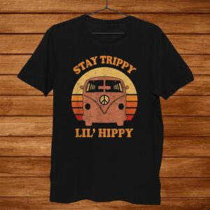 Stay Trippy Little Hippy Peace Hippie Van Shirt