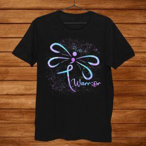 Suicide Prevention Awareness Dragonfly Shirt Semicolon Shirt