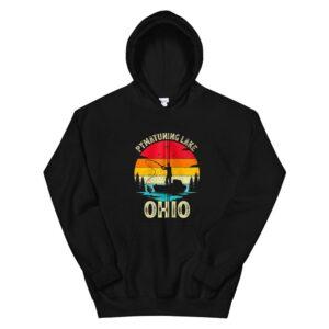 Summer Vacation Fishing Vintage Retro Ohio Pymatuning Lake Hoodie