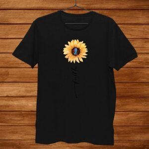 Sunflower Faith Blue Purple Suicide Prevention Awareness Shirt