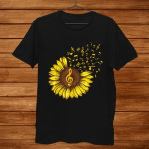 Sunflower Music Note Music Lovers Shirt