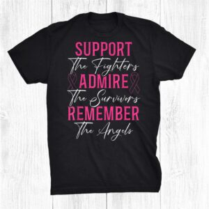 Support The Fighters Breast Cancer Awareness Month Support Shirt