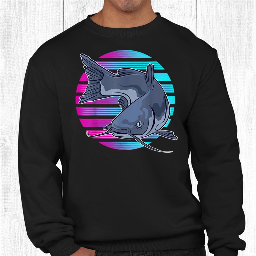 Synthwave Catfish Fishing Shirt