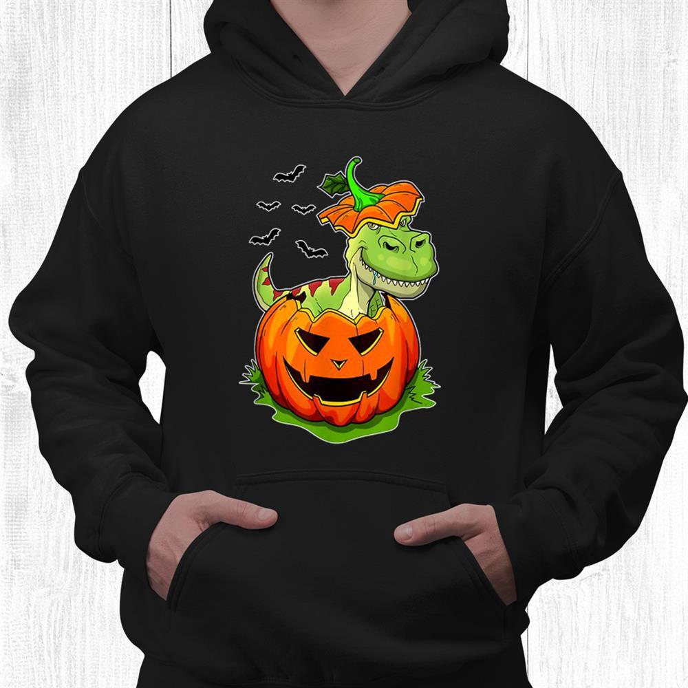 T Rex Dinosaur Grunge Pumpkin Jack O Lantern Shirt