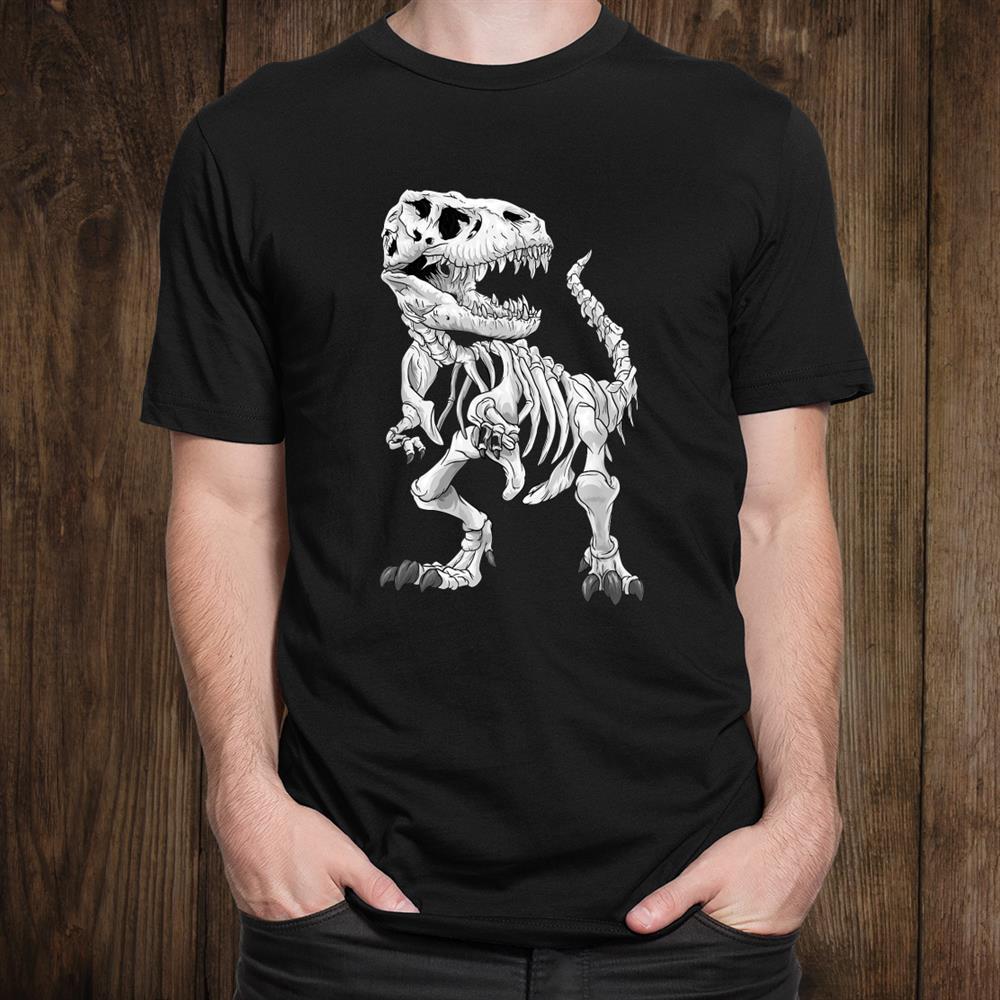 T Rex Skeleton Dino Bones Paleontologist Fossil Dinosaur Shirt