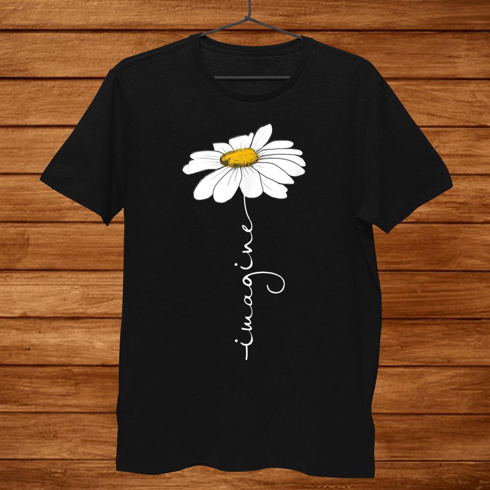 Tee Imagine Daisy Flower Hippie Shirt