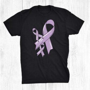 Testicular Cancer Awareness Ribbon Purple Fighter Chemo Shirt