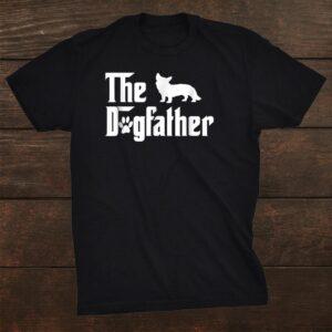 The Dogfather Cardigan Welsh Corgi Dog Shirt For Father Shirt