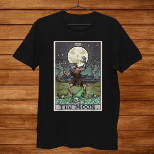 The Moon Tarot Card Halloween Werewolf Gothic Witch Clothing Shirt
