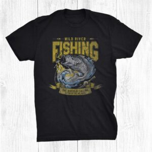 The River Is Calling To Catch The Big Bass Retro Fishing Shirt