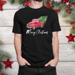 Truck Buffalo Plaid Christmas Tree Shirt