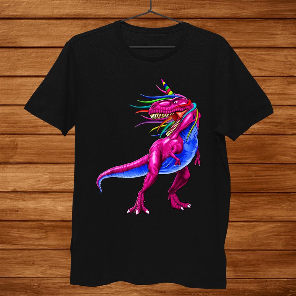 Unicorn Dinosaur T Rex Shirt Gift Women Men Kids Girl Boy Shirt