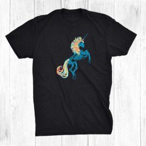 Unicorn Skeleton For Halloween Zombie Uni Shirt