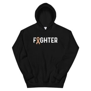 Uterine Cancer Awareness Products Peach Ribbon Fighter Hoodie