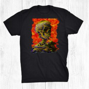 Van Gogh Skull Vaporwave Aesthetic Skeleton Lofi Glitch Shirt
