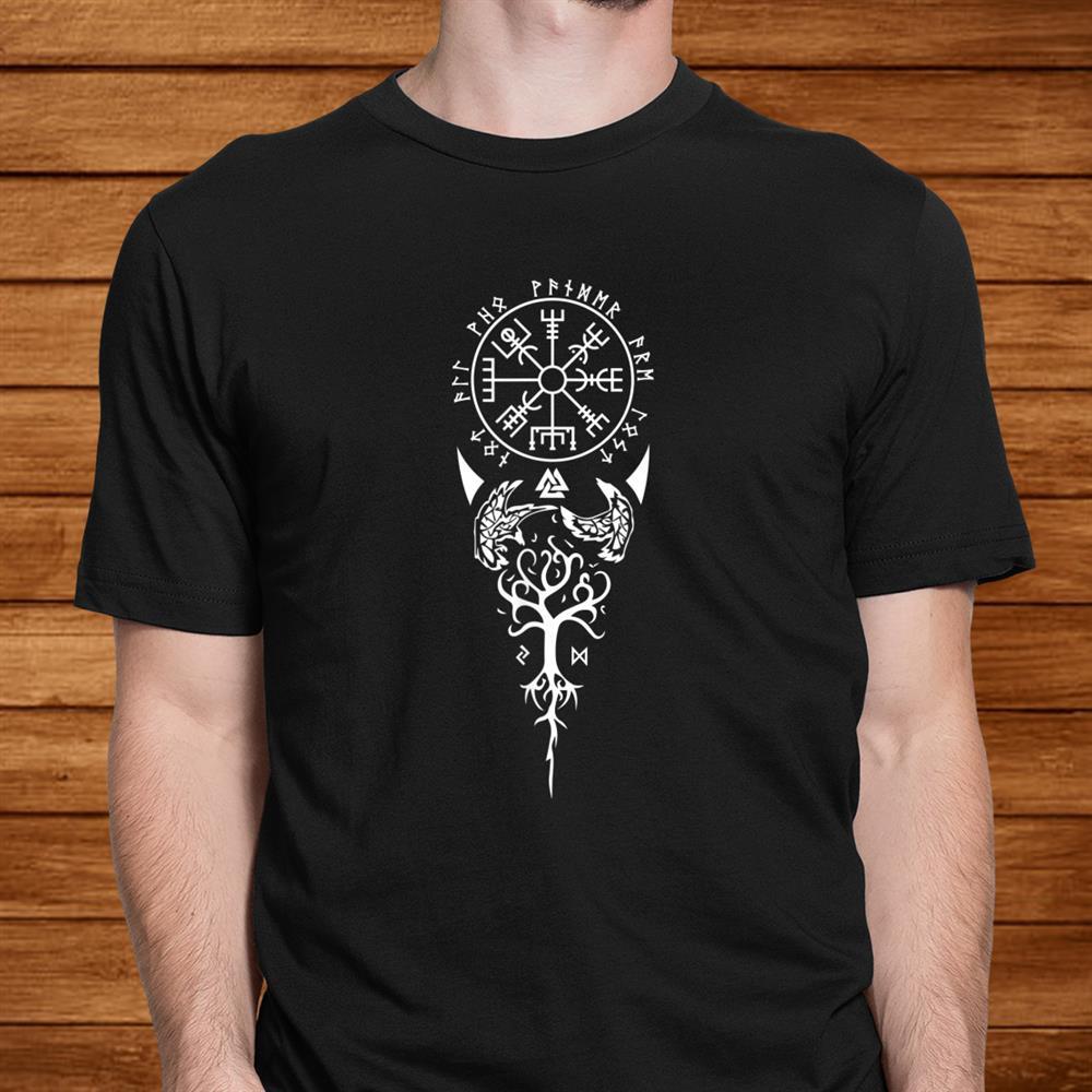 Vegvisir Runes Viking Compass Nordic Symbol Shirt