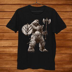 Viking Bear Warrior Odin Berserker Tshirt Vikings Myths Shirt