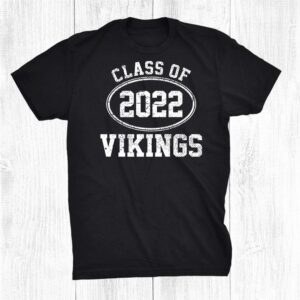 Viking Mascot Vintage Athletic Sport Team Senior Class 2022 Shirt