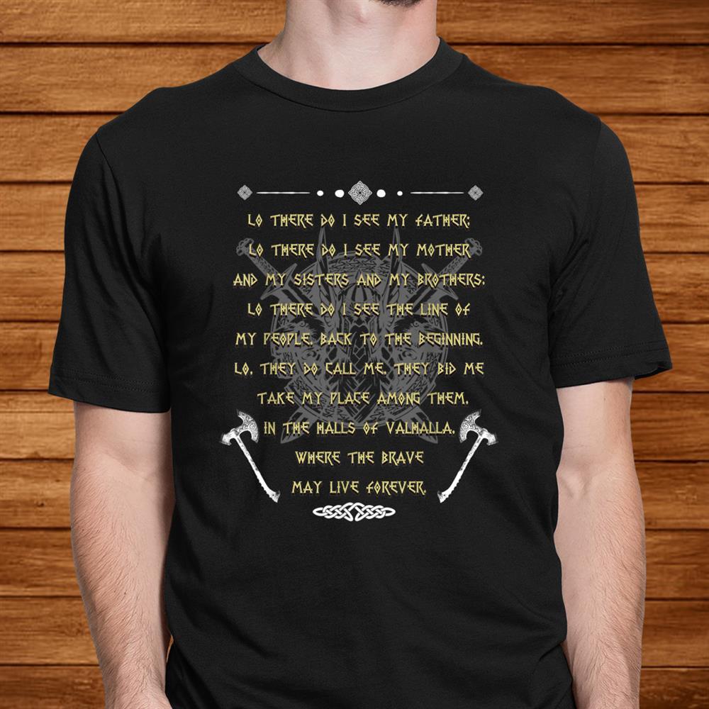 Viking Prayer Before The Battle T Shirt Vikings Warriors Shirt
