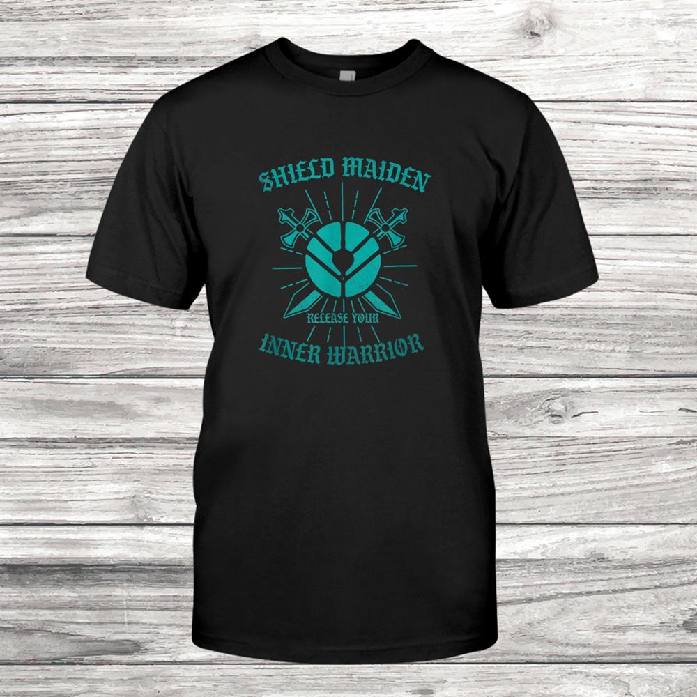 Viking Shield Maiden Nordic Men Warrior Shirt