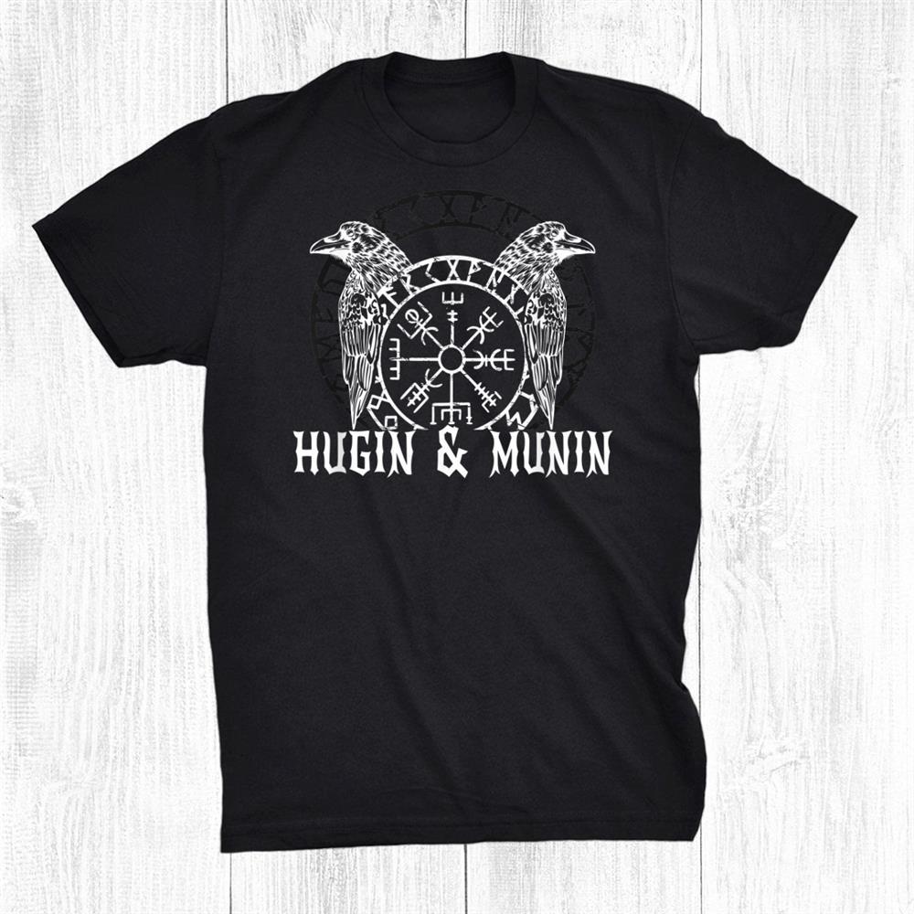 Viking Vanheimr Hugin And Munin Ravens Odins Shirt
