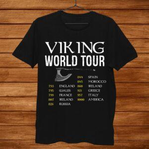 Viking World Tour Valhalla Nordic Mythology Viking Warrior Shirt