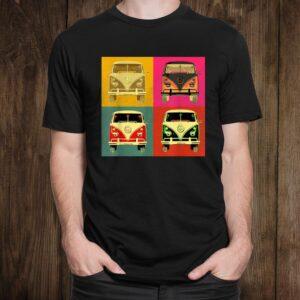 Vintage960s Hippie Micro Bus Van Pop Art Styled Shirt