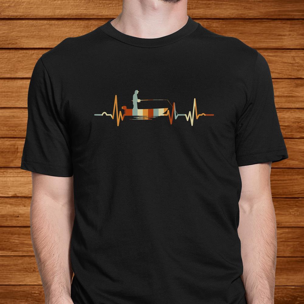 Vintage Fishing Heartbeat Shirt Funny Fishing Shirt